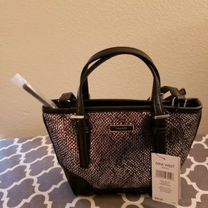 NEW Nine West Mini Ava Metallic Shoulder Bag